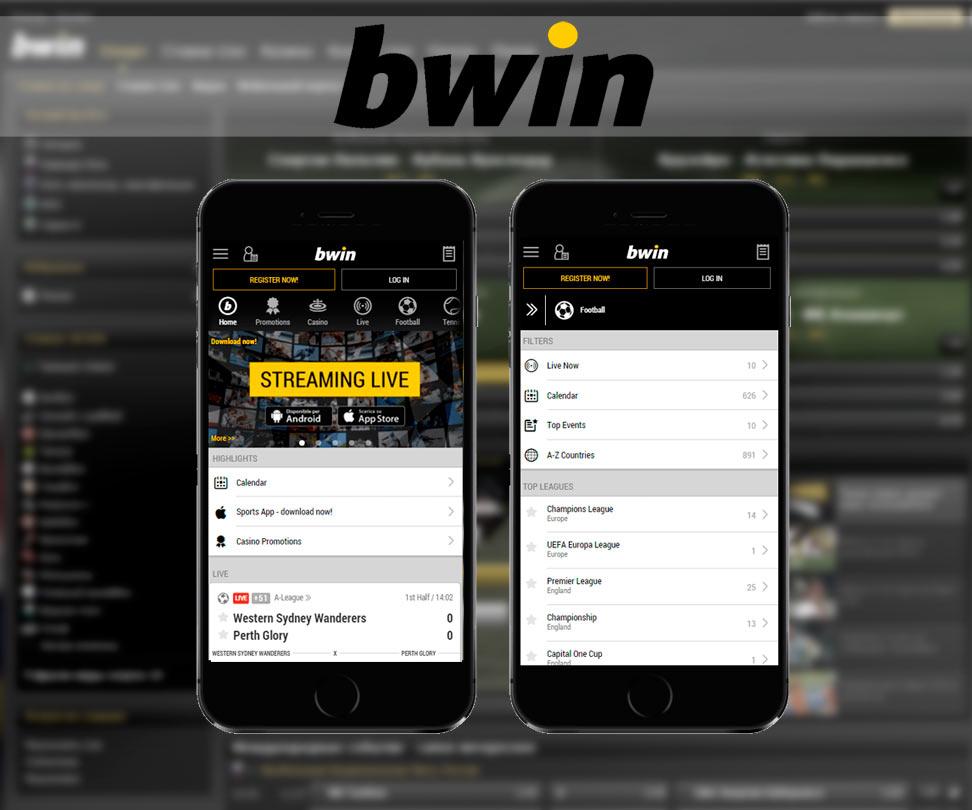 Appli pour l'appareil mobile Bwin sur iOS
